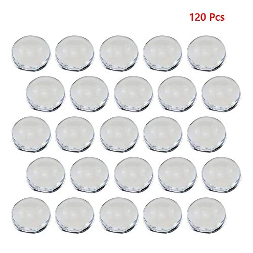 - 120 Pcs Bezel Pendant Trays Round Cabochon Settings Trays Pendant Blanks, 25mm Diameter (Round Glass Cameo)