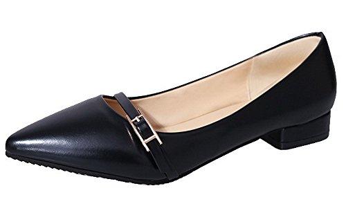 soggiorno Heel nero up Ageemi Mini Pu Scarpe Lace Solid di Donna Ifq0Hz