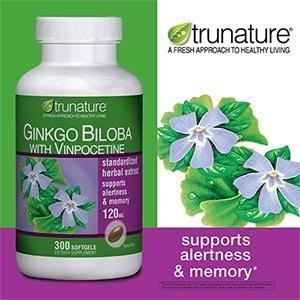 TruNature Гинко Билоба с винпоцетин, 300-капсул для бутылок Здоровье / Медицина, здравоохранение