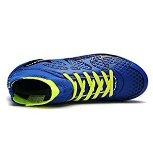 DREAM PAIRS Men's 160858-M Royal Black N.Green Fashion Cleats Football Soccer Shoes Size 9 M US