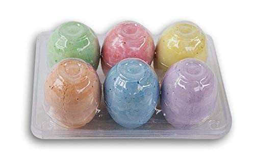 Daisy Crafts Easter Egg-Shaped Colorful Sidewalk Chalk - 6 Count
