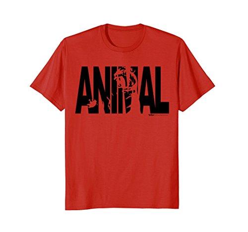 Mens Animal Warm up Workout Weight Lifting Gym T Shirt Men Women Large Red