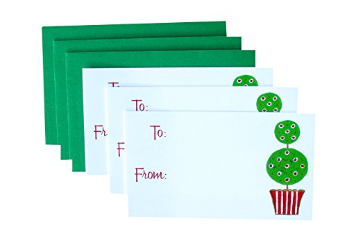 Christmas Topiary Gift Enclosure Cards