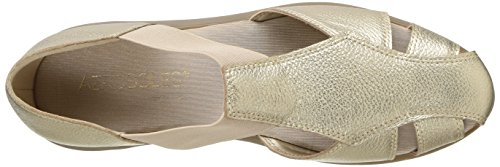 Gold Women's Flat Aerosoles Believe Leather BatxFwz