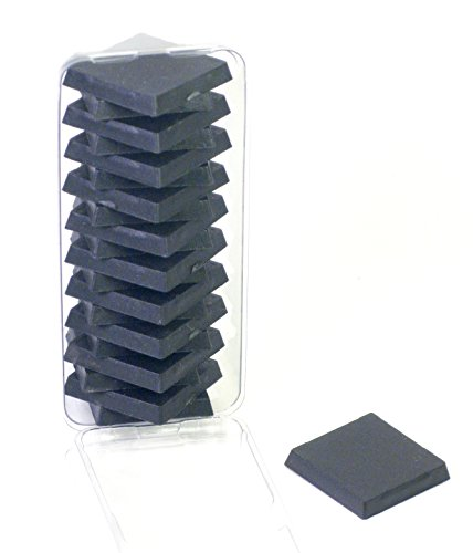 (Value Pack of 20 - 25MM Square Black Miniature Model Bases for TableTop or Miniature WarGames )