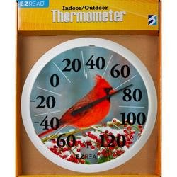 Headwind 8400025 EZ Read Dial Thermometer with Winter Cardinal, 13.5-Inch (Cardinal Thermometer Clock)