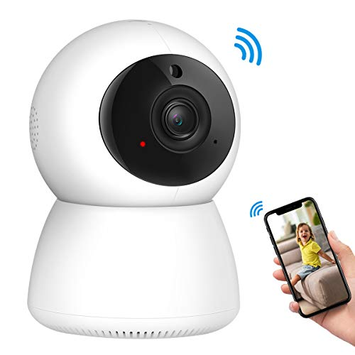 (2019 NEW) Criacr 1080p WiFi Home Security Camera, Indoor Smart Surveillance Pet Baby Monitor, Zoom IP Camera, Night Vision, Ptz, Two-Way Audio, Pan, Tilt, Remote Viewing for Elder, Home, Shop, Office (Best Home Ip Camera 2019)
