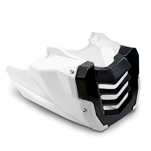 - Motorcycle Engine Protector Guard Cover Under Cowl Lowered Low Shrouds Fairing Belly Pan For Honda Grom MSX125 12-15 (White)