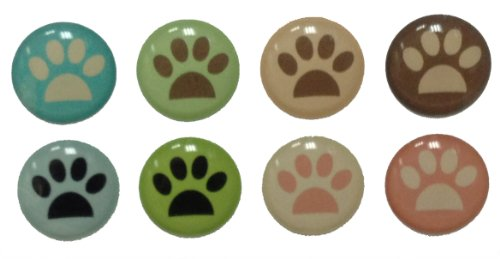 (Colorful Cute Doggy Dog Kitty Cat Paws 8 Pieces Home Button Stickers for iPhone 5 4/4s 3GS 3G, iPad 2, iPad Mini, iPod Touch by Red Rock)