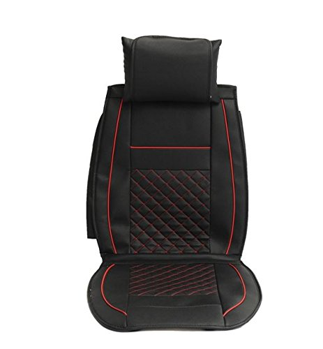 MD Group Car Seat Cover 5 Seat PU Leather Front & Rear Seat Set Full Surround Needlework 10pcs by MD Group (Image #3)