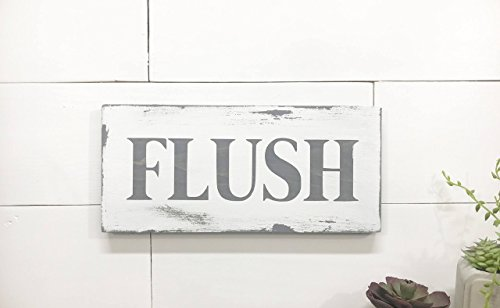 Flush bathroom sign wall art by BeaWOODtiful ()