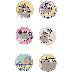 Pusheen The Cat 6 Button Set