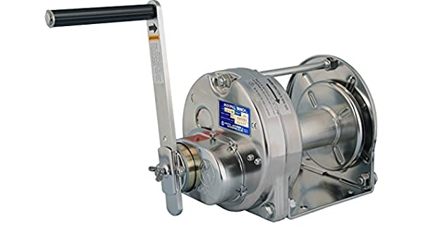 maxpull acero inoxidable (electropolishing) Spur Gear Heavy Duty mano cabrestante manual con freno automático, 660 libras (300 kg) capacidad sin cable o cuerda de alambre – esb-3-si: Amazon.es: Bricolaje y herramientas