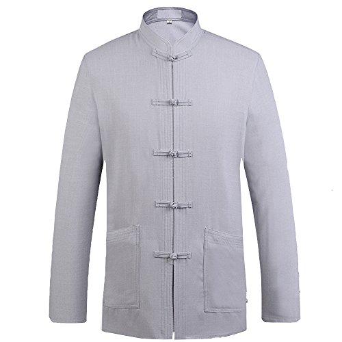 eb5e4b6a84 ZooBoo Mens Chinese Tang Suit Kung Fu Uniform Cotton Shirt - Import ...