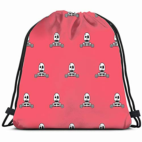 Funny Skeleton Abstract Objects Drawstring Bag Backpack Gym Dance Bag Reversible Flip Sequin Bling Backpack For Hiking Beach Travel Bags