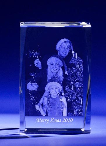 3D Crystal - Personalized Laser Engraved Photo Crystal, Custom Glass Etching, Photo Crystal Cube A1801 By Goodcount Crystal Gift (Photo Crystal compare prices)