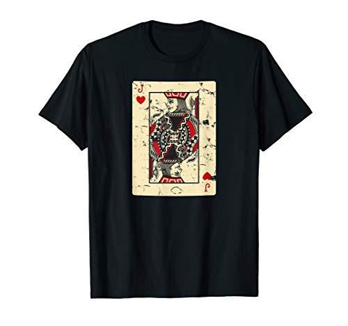 Vintage Jack of Hearts Poker Gambling T-Shirt