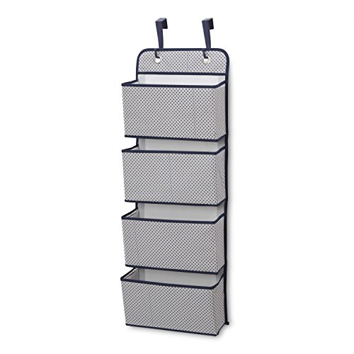 - Delta Children 4 Pocket Over The Door Hanging Organizer, Navy