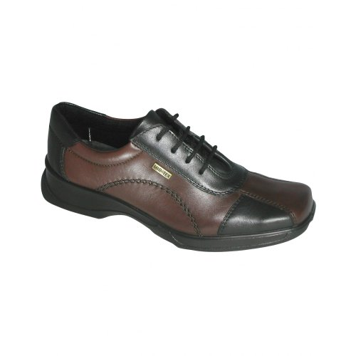 Cotswold Lace-Up Textile Lined Ladies Shoes - Black - Size 3 4 5 6 7 8 Black/brown