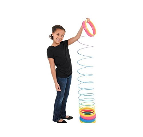 6'' Jumbo Rainbow Coil Spring (With Sticky Notes) by Bargain World (Image #3)