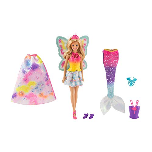 Barbie Dreamtopia Rainbow Cove Fairytale Dress Up Set, Blonde]()