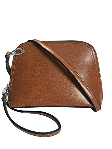 phone cell Crossbody Bag Strap Bag Bag Wristlet Shoulder Brown bag nbsp;Leather WAxq8cHPn5
