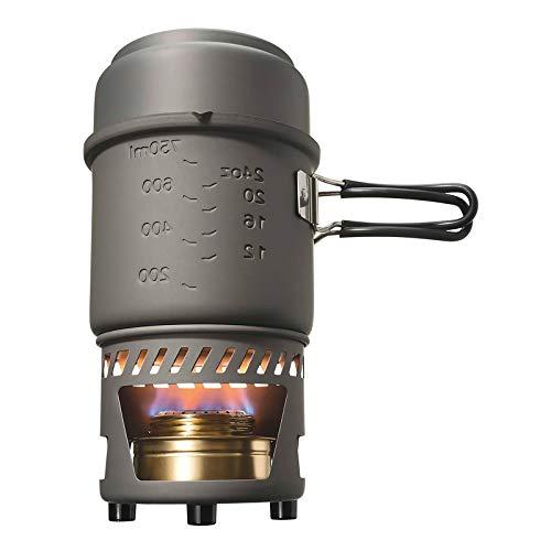 Esbit Spiritus-kookset, compact formaat, grote en kleine pot, camping, rugzakreizen, wandelen, outdoor koken
