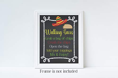 - Walking Tacos, Graduation Party, Graduation Party Decorations, Graduation Sign, Graduation Party Decor, Taco Sign, Glossy 8x10 Sign, Frame is NOT included