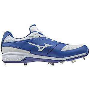 Mizuno Dominant IC Adult Men's Low Cut Metal Baseball Cleats - Royal & White (Men's Size 9.5)