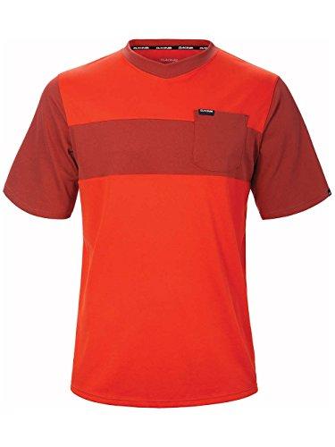 Dakine Men's Vectra Short Sleeve Jersey Shirt, Blaze, Red Rock, S