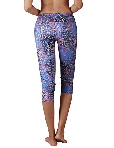 YOGARURU Yoga Capris for Women Performance Activewear Printed Yoga Capri Hidden Pocket (From XS to 2XL)