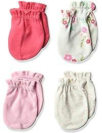 Unisex Baby Scratch Mittens, 4 Pack
