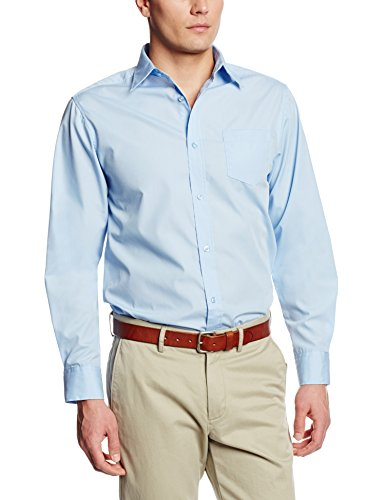 Lee Uniforms Men's Long Sleeve Dress Shirt, Light Blue, Medium ()