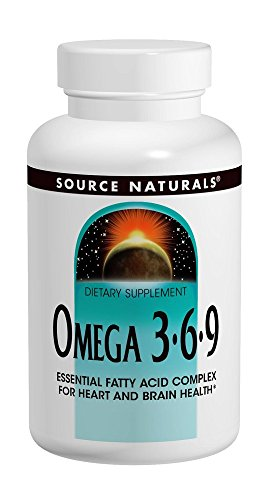 Source Naturals Omega 3-6-9, Essential Fatty Acid Complex for Heart and Brain Health, 120 Count