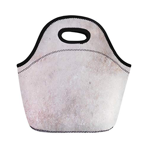 Ablitt Lunch Bags Tan White Rock Marble Travertine Nature Cream neoprene lunch bag lunchbox tote bag portable picnic bag cooler bag
