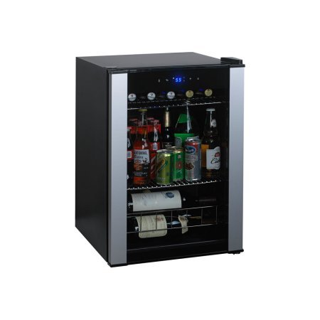 Highest Rated Compact Wine Beverage Cooler Refrigerator- Counter Top Compact Wine Beer Beverage Cellar 20 Bottle (Bordeaux) Capacity- Portable Stainless Steel 2-Shelves LED Lighting Digital Controls (Drink Cooler Retail)