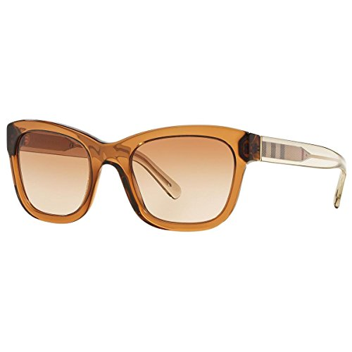 Burberry BE4209 356413 Brown Clear BE4209 Wayfarer Sunglasses Lens Category 2 - Sunglasses Burberry Wayfarer