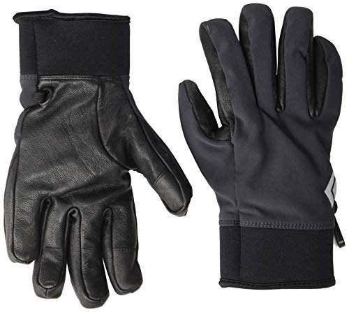 (Black Diamond BD801464SMOKSM_1 Heavyweight Softshell Gloves, Smoke, Small )