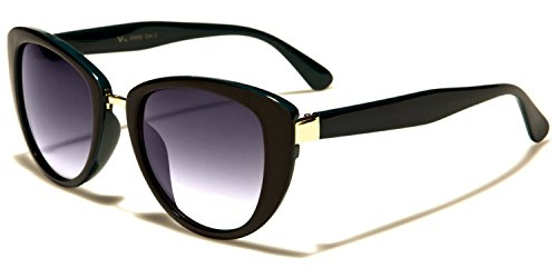 Protección negro Gafas de De Para COMPLETO negra lente MICROFIBRA Verde Moda BOLSA Dama INCLUIDO VG De sol Diseñador beachhutsunglasses NUEVO GRATIS Ojos Gato UV400 zRv6x0w