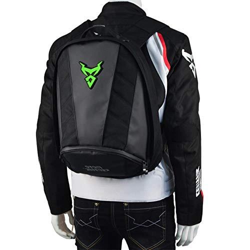 Moto - Mochila impermeable de gran capacidad para motocicletas, con hebilla de pecho y cintura, soporte/ bolsa de...