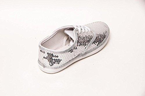 4cd28cd796c2 Women's Sterling Silver Sequin Canvas Oxford Sneakers available in ...