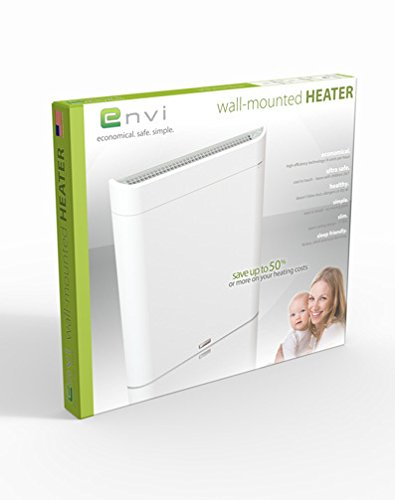 Envi High-Efficiency Electric Panel Whole Room Heater (White) by e-Heat