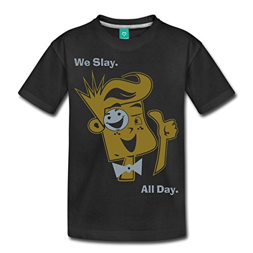 Spreadshirt Funnel Vision We Slay All Day Kids' Premium T-Shirt, Youth L, Black