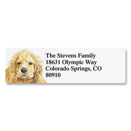 Cocker Spaniel Pet Portrait Small Return Address Label - Set of 240 2
