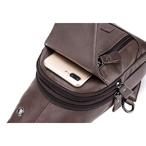Genuine For Multipurpose Chest Body Sling Cross Shoulder theft Gift Christmas Bag Working School Backpack Halloween Men's Business Pack Anti Leather Hiking Travel xwgp4q7