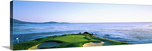 Canvas on Demand Premium Thick-Wrap Canvas Wall Art Print entitled Golf course, Pebble Beach Golf Course, Pebble Beach, Monterey County, California 36