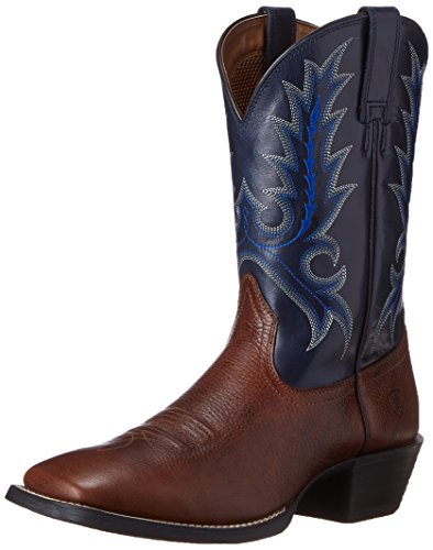Ariat Men's Sport Outfitter Western Cowboy Boot, Fiddle Brown/Blue, 9 M US