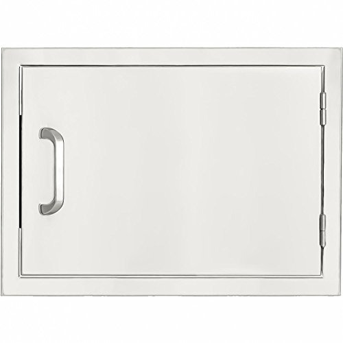 Mounted Flush Drawers Single (BBQGuys.com Kingston Series 20-inch Stainless Steel Right-hinged Single Access Door - Horizontal)