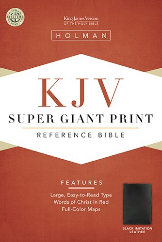 KJV Super Giant Print Reference Bible, Black Simulated Leather (King James