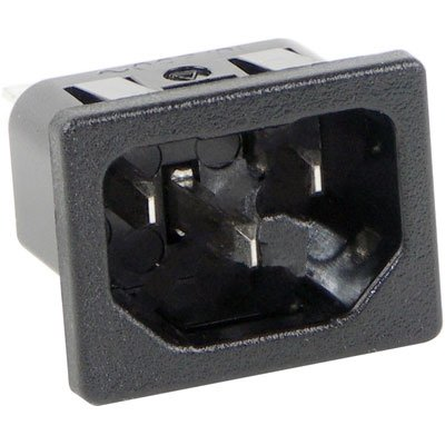 Primary Power Receptacle 250 VAC Switchcraft EAC411040 10A
